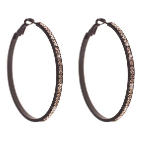 Boucles d'oreilles créole 50 mm, rhodié ARZU