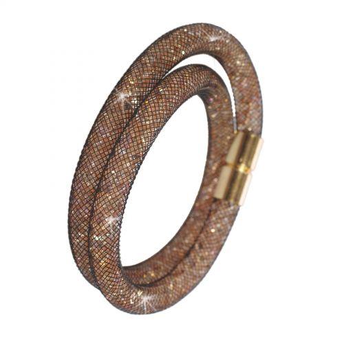 Bracelet Wrap Cristal Shaphia doré 9389