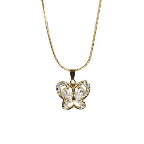 Collier papillon fantaisie cristal Evanna