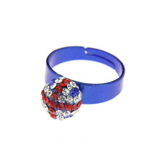 Rhinestones metal ring