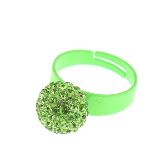 Bague aliiage strass