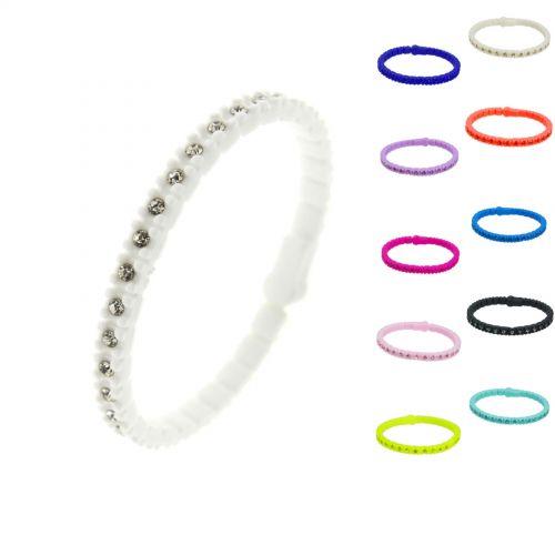 Bracelet silicone strass, 4257 Noir