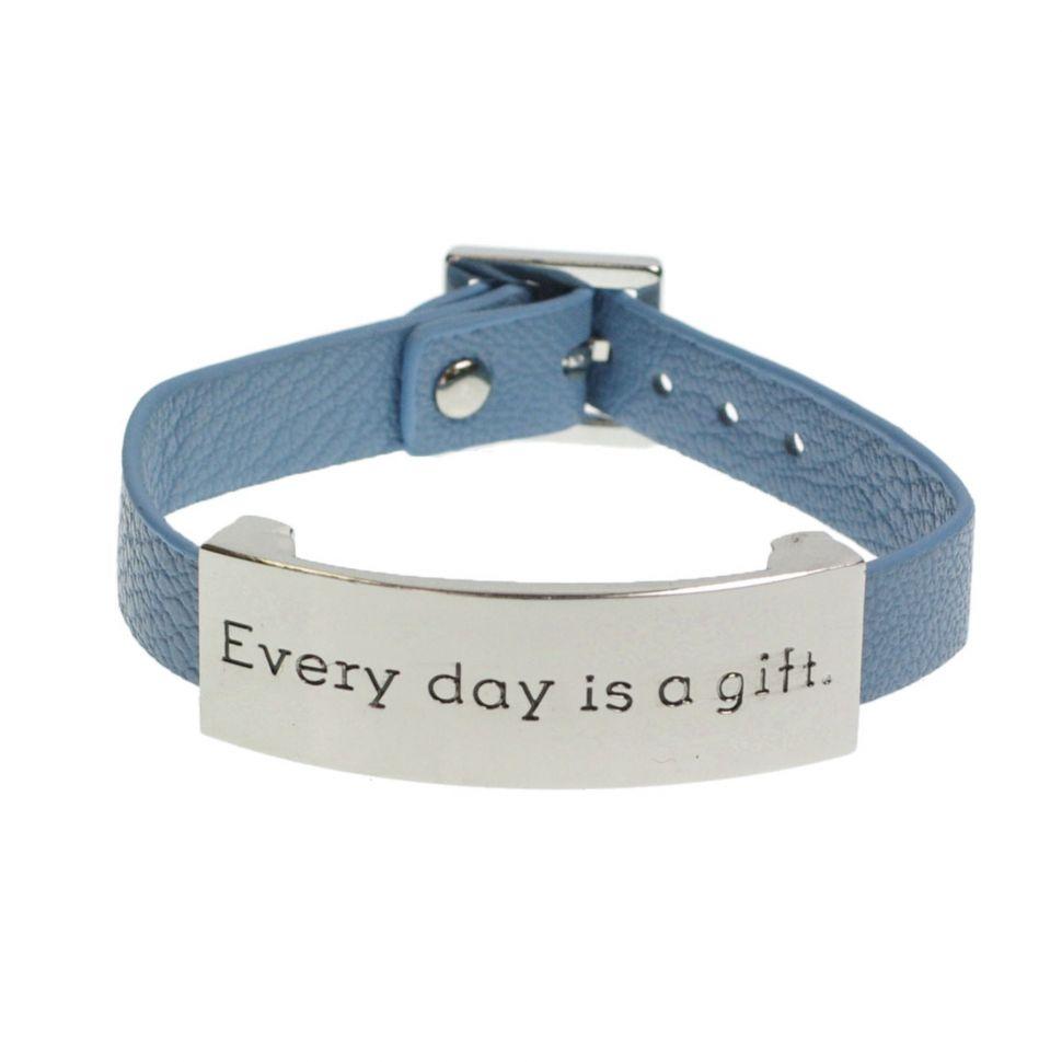 Bracelet similicuir every day is a gift Bleu (Argenté) - 8059-29830
