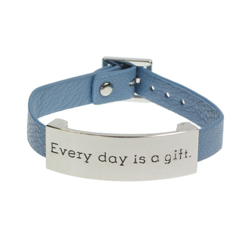 Bracelet similicuir every day is a gift Bleu (Argenté) - 8059-29830