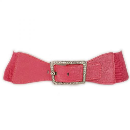 Rhinestone buckle Elasticated Woman Belt, ISRAA