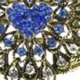 Bracelet manchette Arwen Bleu cyan - 6023-29982