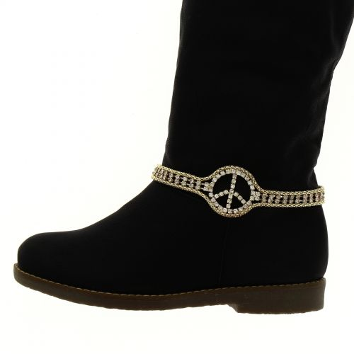 Paire de bijoux de bottes peace and love LYA
