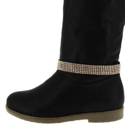 Paire de bijoux de bottes cristal WAFA Noir (Doré) - 4639-30733