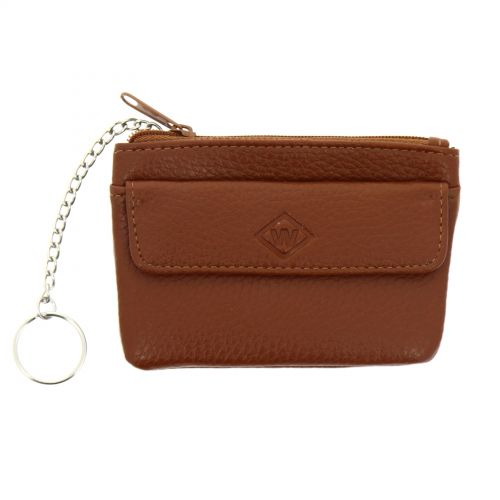 Leather Small Mini Wallet Holder Zip Coin Purse and card holder, KELIANNE