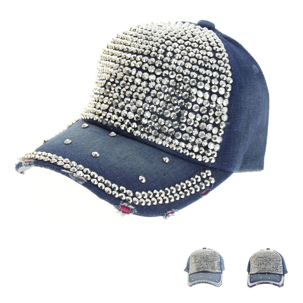 STELLIE denim strass cap hat