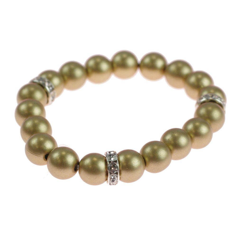 Bracelet extensible à perles de verre MARTA Doré - 9029-31729