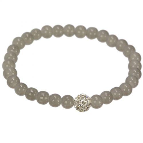 Bracelet à perles et strass MARIE-EVELINE Gris - 9897-31739