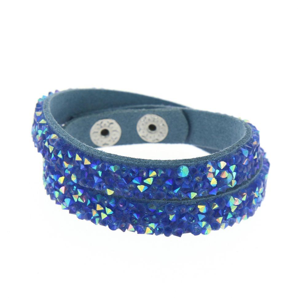 Bracelet Wrap Strass Meline Bleu (Bleu AB) - 7652-31880