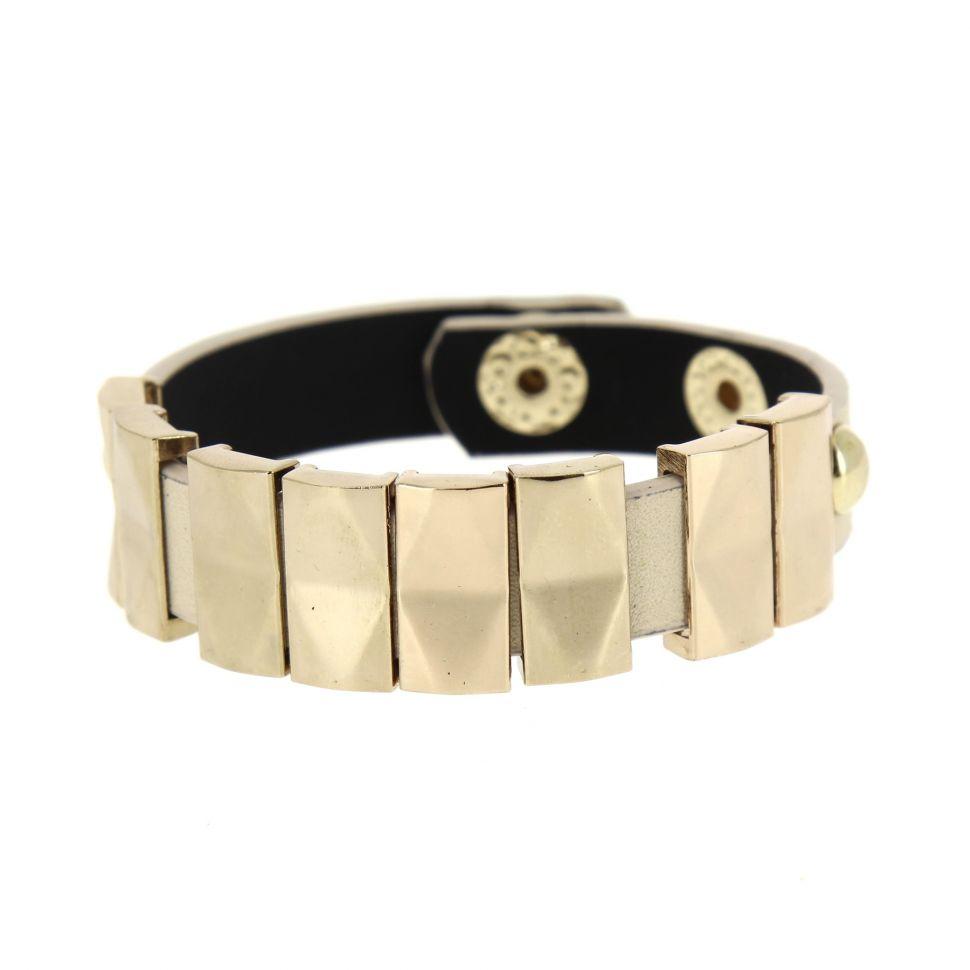 Bracelet similicuir CHERINNE Beige (Doré) - 7965-31890