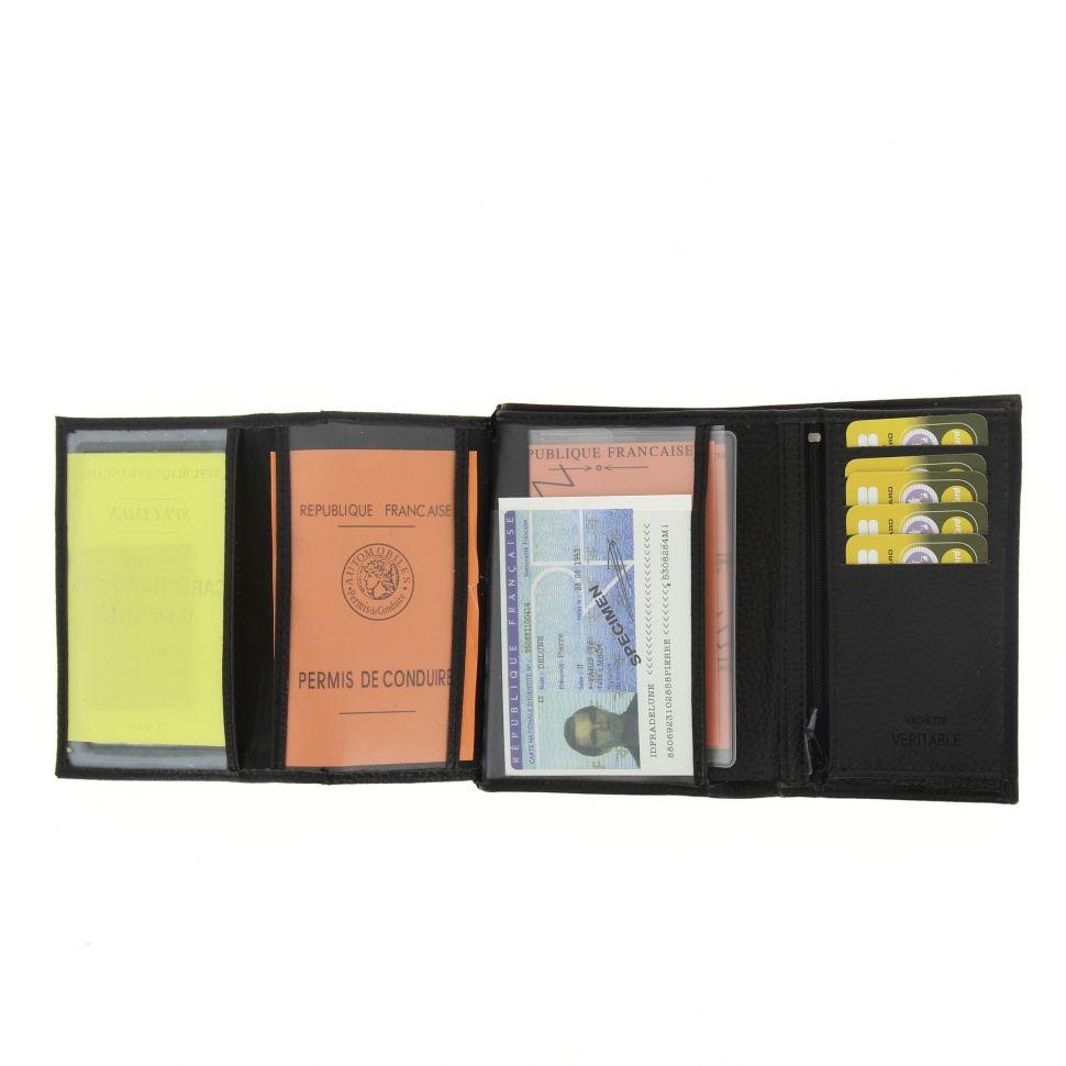 Portefeuille cuir RODNEY Noir - 9906-32067