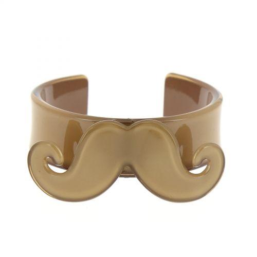 Bracelet moustache en acrylique 2095