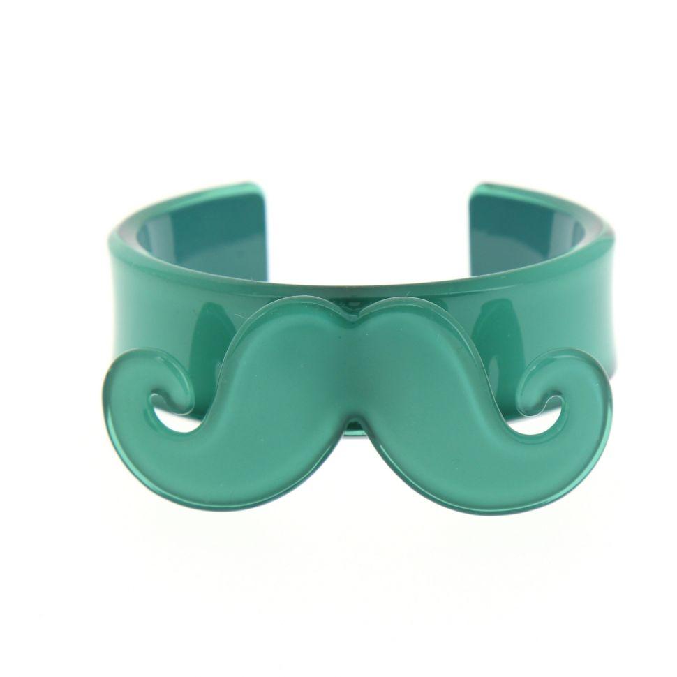 Bracelet moustache en acrylique 2095 Vert - 3311-32271