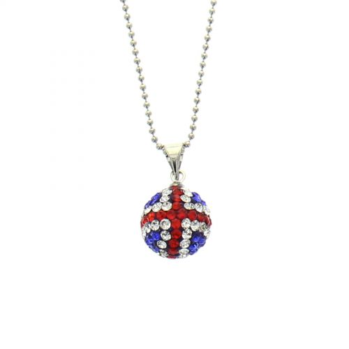 collana palla da discoteca con strass inglese