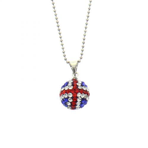 Collier disco ball anglais à strass Argenté - 9558-32386