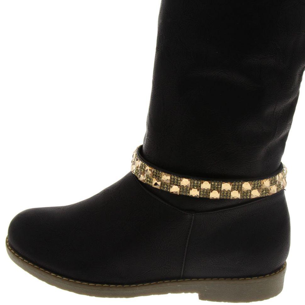 Paire de bijoux de bottes strass IREM Noir (Marron) - 6111-32387