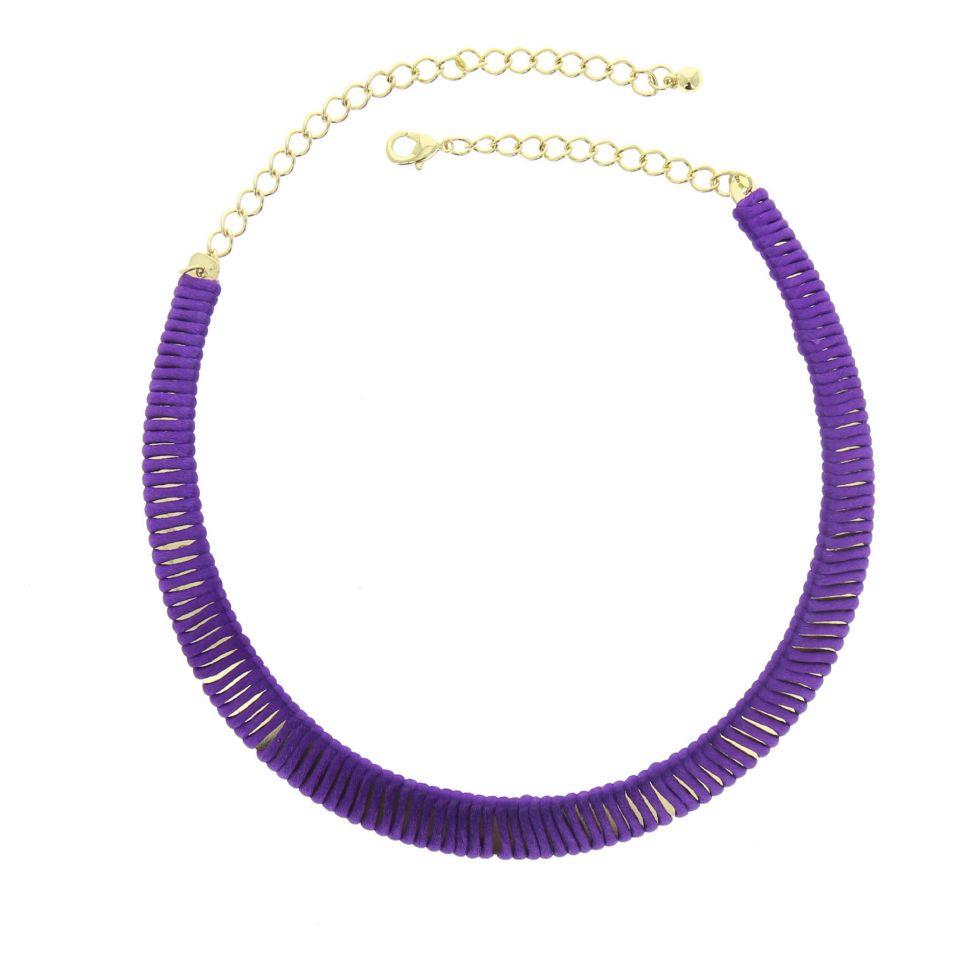 Collier cordons Moe Violet - 5005-32494