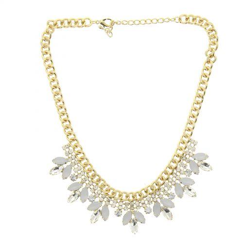 collana di strass in oro Nadie