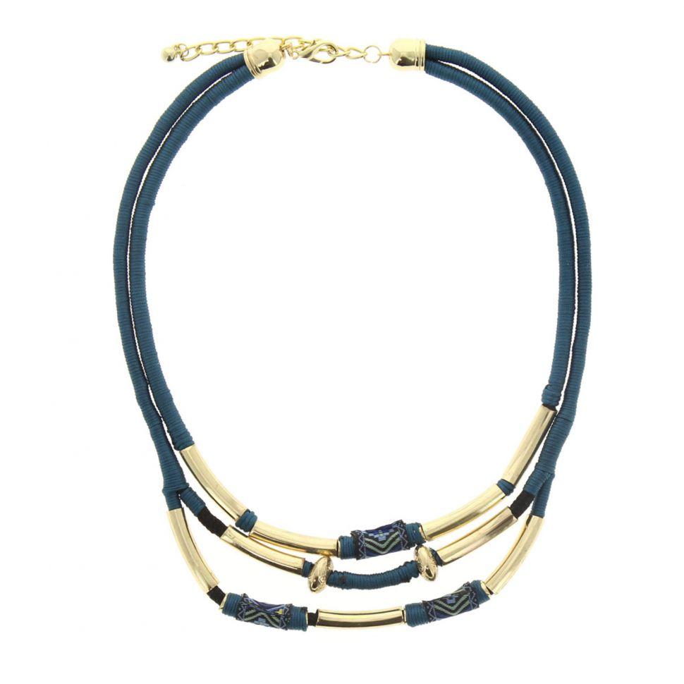 Collier cordons Aoife Bleu - 5153-32553