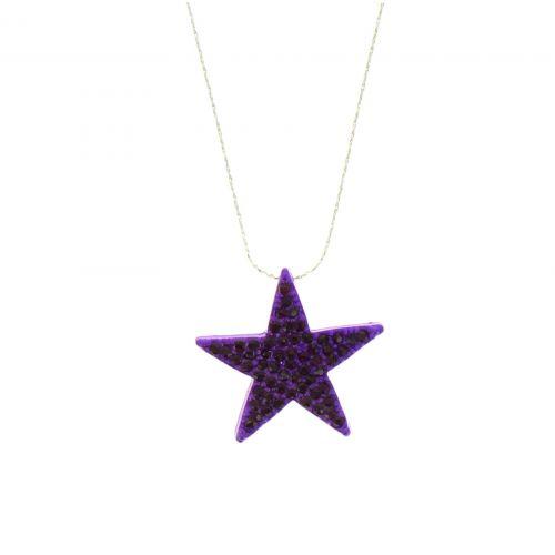 Collier BA17, étoile strass