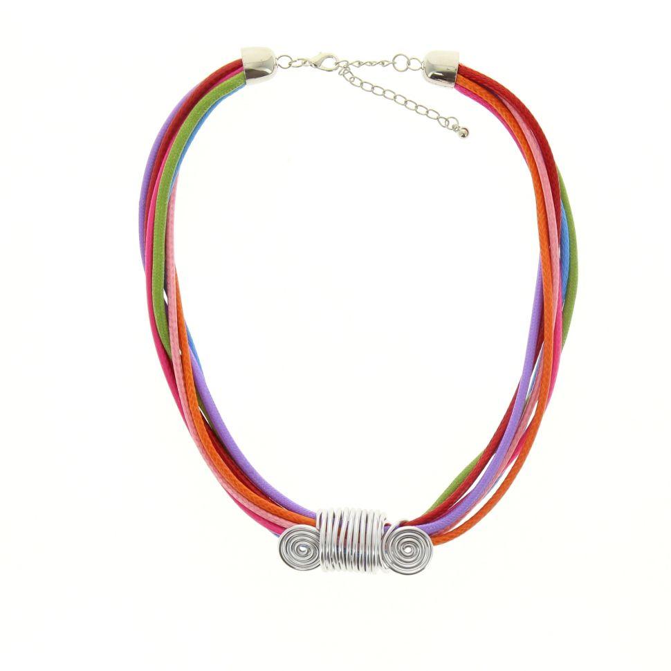 Collier cordons, fil de fer coloré Multicouleur - 2135-32689