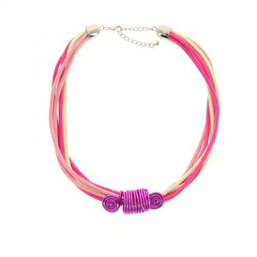 Collier cordons, fil de fer coloré
