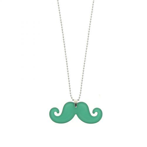 Collier acrylique moustache, 2093