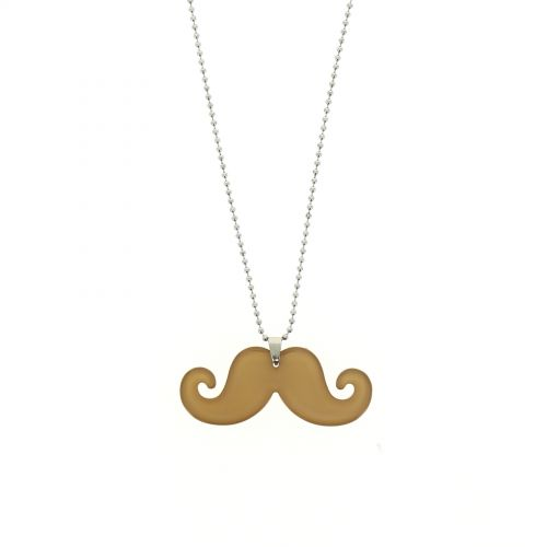 Collier acrylique moustache, 2093