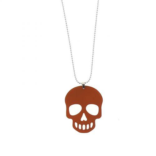 Collier acrylique Tête de mort, AOS-14