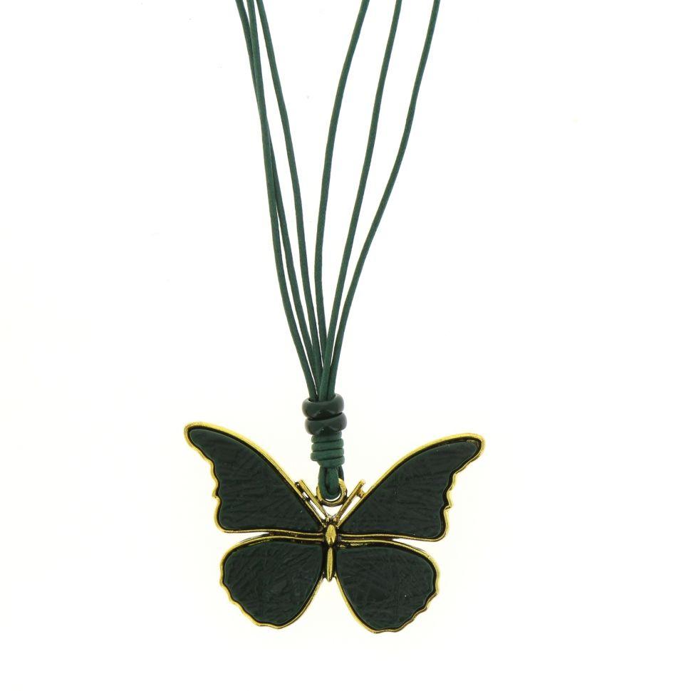 collier papillon à cordons, DN9231 Vert pin - 1721-32832