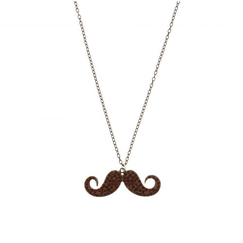 Collier chaines, moustache A05-41