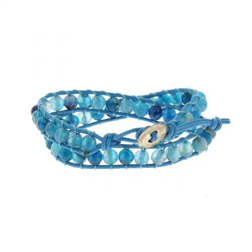 Bracelet double tours à pierre tressés, 2352