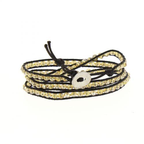 braccialetto etnico, corde intrecciate cristral