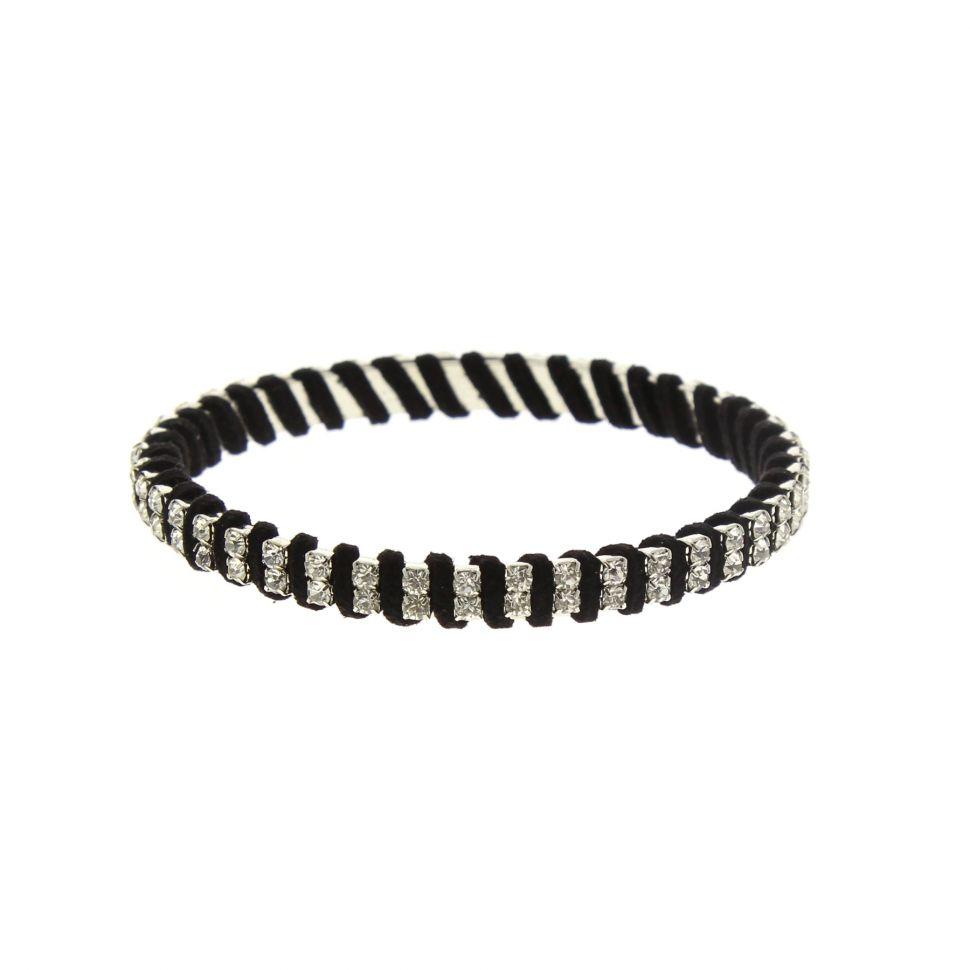 Bracelet bangle à strass Noir - 2215-32962