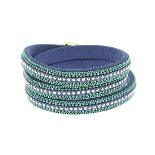 Bracelet wrap chaines AMAPOLA