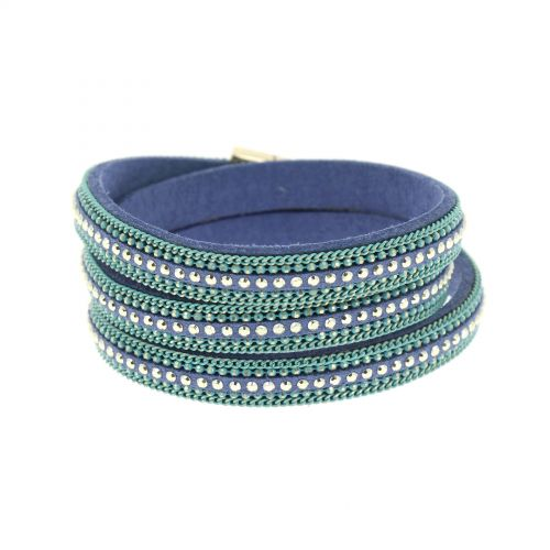 Chains wrap bracelet AMAPOLA