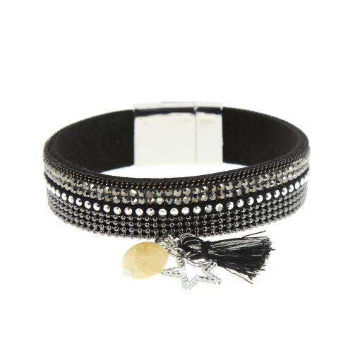 Bracelet strass à charms OCEA Noir - 9957-33003
