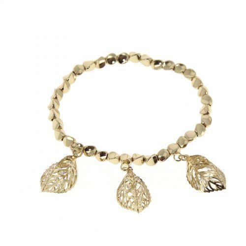 Bracelet extensible à feuille strass Coralie