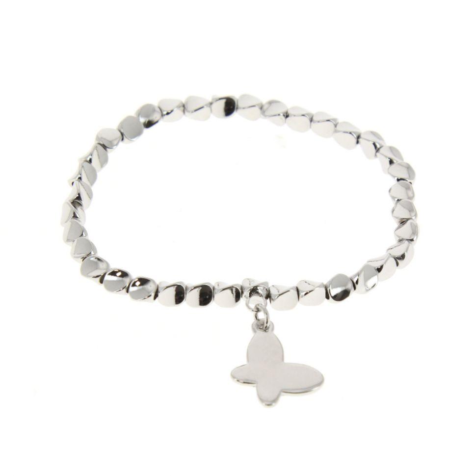 Bracelet élastique papillon Argenté - 7497-33448