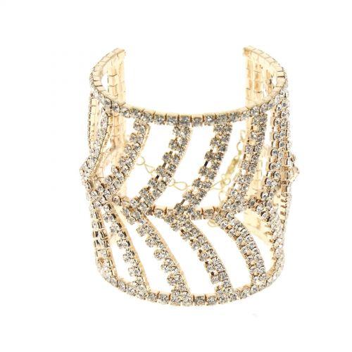 Bracelet manchette flèches 6437 Doré - 6438-33705
