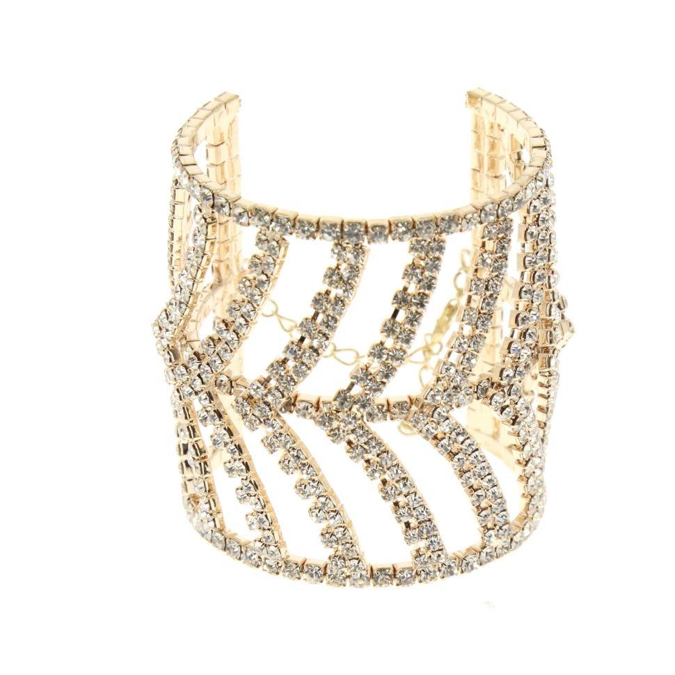 6437 rhinestone cuff bracelet