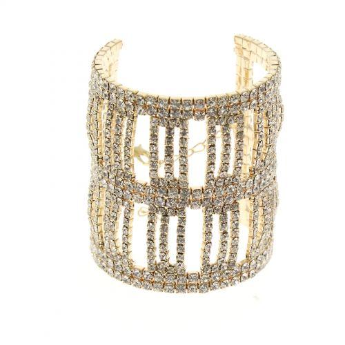 Bracelet manchette bande 6435 Doré - 6436-33709