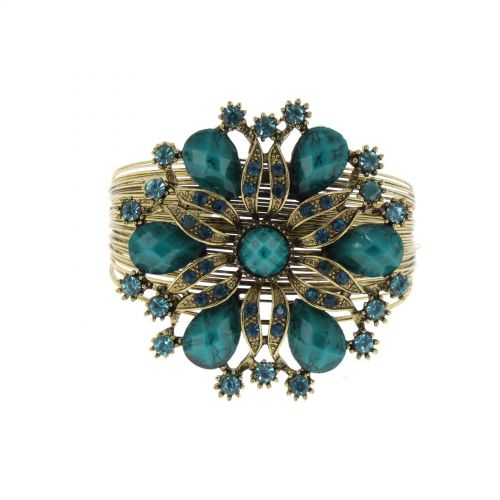 Bracelet fleur Bleu - 6034-33747