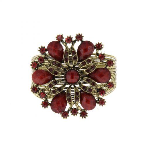 Bracelet manchette métal fleur Jessalyn