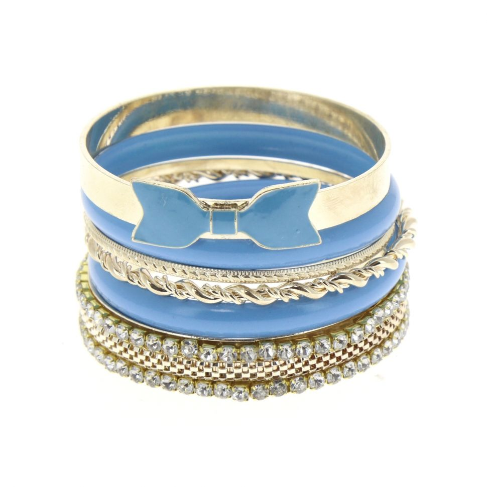 Bracelets 6 bangles Bleu - 4962-33769