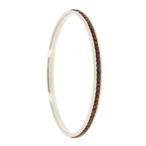 Bracelet acier inoxydable cristal SALLY